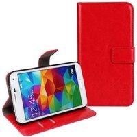 Чехол кошелек для Samsung Galaxy S5 красный - Crazy Horse Wallet Case Red