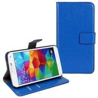 Чехол кошелек для Samsung Galaxy S5 синий - Crazy Horse Wallet Case Blue
