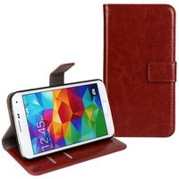 Чехол кошелек для Samsung Galaxy S5 коричневый - Crazy Horse Wallet Case Brown