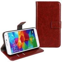 Коричневый чехол кошелек для Samsung Galaxy S5 mini - Crazy Horse Wallet Brown Case