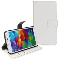 Белый чехол кошелек для Samsung Galaxy S5 mini - Crazy Horse Wallet White Case