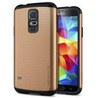 Защитный чехол накладка SLIM ARMOR Case Gold для Samsung Galaxy S5 золотой