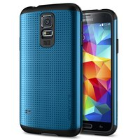 Защитный чехол накладка SLIM ARMOR Case Blue для Samsung Galaxy S5 синий