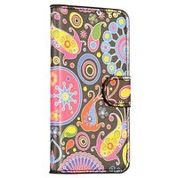 Чехол кошелек c узорами для Samsung Galaxy S5 - Color Pattern Wallet Case