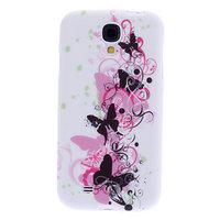 Силиконовый чехол для Samsung Galaxy S4 mini черные бабочки и узоры