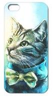 Чехол накладка для iPhone 5s / SE / 5 кот в бабочке
