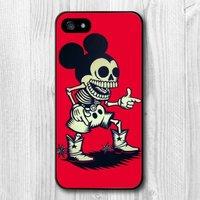 Чехол накладка для iPhone 5s / SE / 5 Mickey Skeleton Мики Маус Скелет
