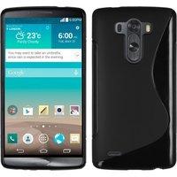 Черный силиконовый чехол для LG G3 - Type S Line Case Black