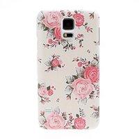 Пластиковый чехол c цветами для Samsung Galaxy S5 - Pink Flowers Pattern Plastic Case