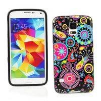 Силиконовый чехол для Samsung Galaxy S5 с узорами цветы и круги