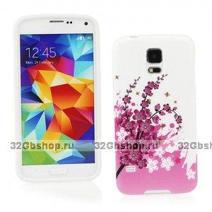 Силиконовый чехол для Samsung Galaxy S5 сакура