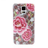 Пластиковый чехол c цветами пионы для Samsung Galaxy S5 - Peony Pattern Plastic Case