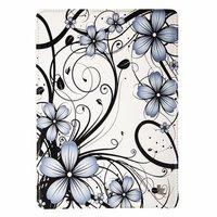 Чехол Jisoncase для iPad Air 5 белый с серыми цветами и узором