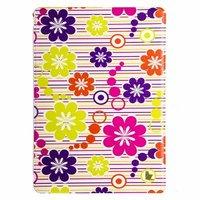 Чехол Jisoncase для iPad Air 5 в полоску с цветами