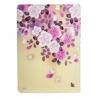 Чехол Jisoncase для iPad Air 5 белые и фиолетовые цветы
