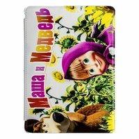 Чехол Jisoncase для iPad Air 5 Маша и Медведь на поле с подсолнухами