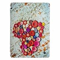 Чехол Jisoncase для iPad Air 5 сердце из пуговиц