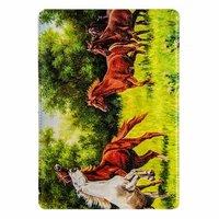Чехол Jisoncase для iPad Air 5 кони на лугу