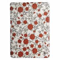 Чехол Jisoncase для iPad Air 5 красные цветы с узором