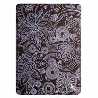 Чехол Jisoncase для iPad Air 5 белые цветы и узор на черном