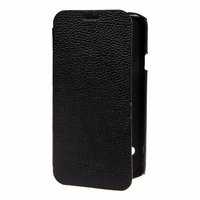 Кожаный чехол книжка для Samsung Galaxy S5 - Melkco Face Cover Book Type (Black LC)
