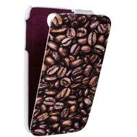 Чехол книжка Fashion для Samsung Galaxy S4 зерна кофе