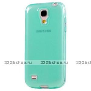 Зеленый мятный прозрачный силиконовый чехол для Samsung Galaxy S4 Mini
