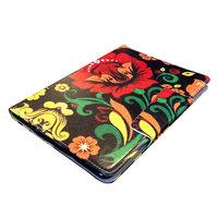 Чехол книга для iPad Air - Mobi Cover Smart Case с узором красные и желтые цветы