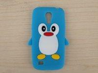 Силиконовый чехол для Samsung Galaxy S4 mini пингвин синий