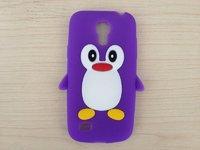 Силиконовый чехол для Samsung Galaxy S4 mini пингвин фиолетовый