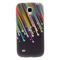 Силиконовый чехол для Samsung Galaxy S4 mini черный радуга звезды