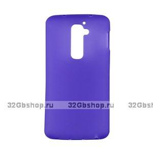 Силиконовый чехол для LG G2 mini D618 фиолетовый матовый