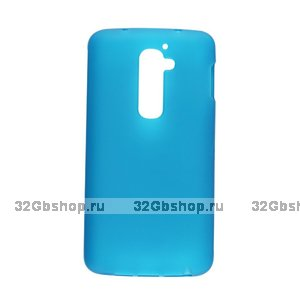 Силиконовый чехол для LG G2 mini D618 синий матовый