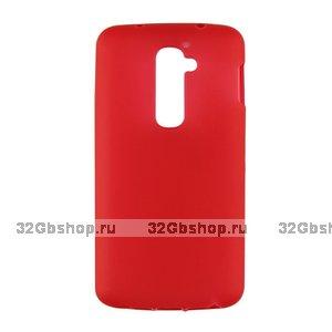 Силиконовый чехол для LG G2 mini D618 красный матовый