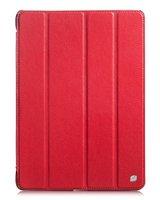 Чехол книжка для iPad Air красный - HOCO Duke Leather case Red