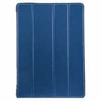 Кожаный чехол Melkco для iPad Air голубой - Melcko Leather Case Slimme Cover Blue LC