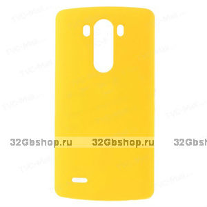 Пластиковый чехол для LG Optimus G3 S / mini желтый - Matte Plastic Case Yellow