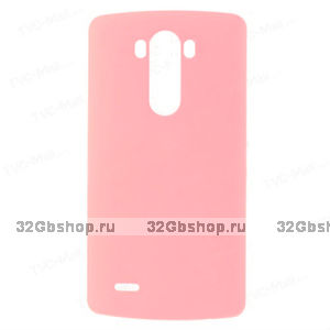 Пластиковый чехол для LG Optimus G3 S / mini розовый - Matte Plastic Case Pink