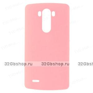 Розовый пластиковый чехол для LG Optimus G3 - Rubberized Plastic Case Pink