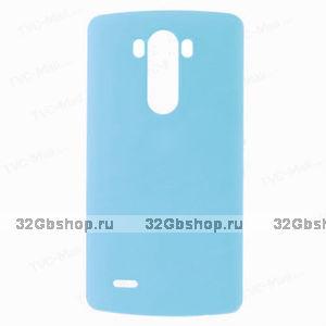 Пластиковый чехол для LG Optimus G3 S / mini голубой - Matte Plastic Case Sky Blue