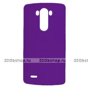 Пластиковый чехол для LG G3 S / mini фиолетовый - Matte Plastic Case Purple