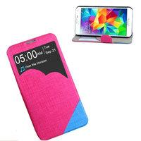 Чехол с фигурным окошком для Samsung Galaxy S5 розовый с голубым - S View Cloud Case Pink&Blue