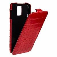Кожаный чехол Melkco для Samsung Galaxy S5 красный крокодил -  Leather Case Crocodile Red