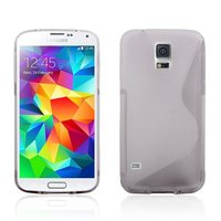 Силиконовый чехол для Samsung Galaxy S5 mini серый - S Style TPU Case Grey