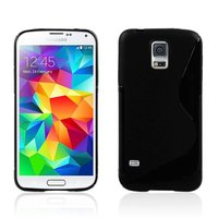 Силиконовый чехол для Samsung Galaxy S5 mini черный - S Style TPU Case Black