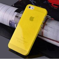 Чехол накладка для iPhone 5s / SE / 5 желтый прозрачный пластик