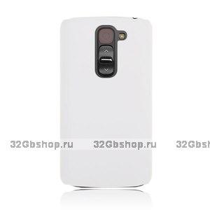 Белый пластиковый чехол для Lg G2 mini - Rubberized Plastic Cover - White