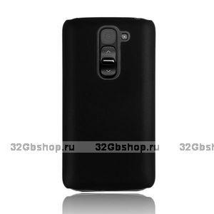 Черный пластиковый чехол для Lg G2 mini - Rubberized Plastic Cover - Black