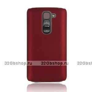 Красный пластиковый чехол для LG G2 mini - Rubberized Plastic Cover - Red