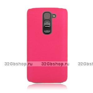 Малиновый пластиковый чехол для LG G2 mini - Rubberized Plastic Cover - Hot Pink